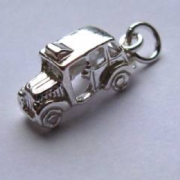 Sterling Silver London Taxi Charm